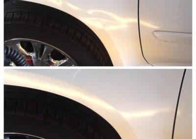 Crease Repair Before and After