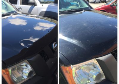 Before and After Hood Dings