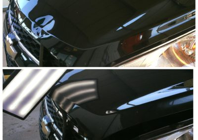 Before and After Hood Dent