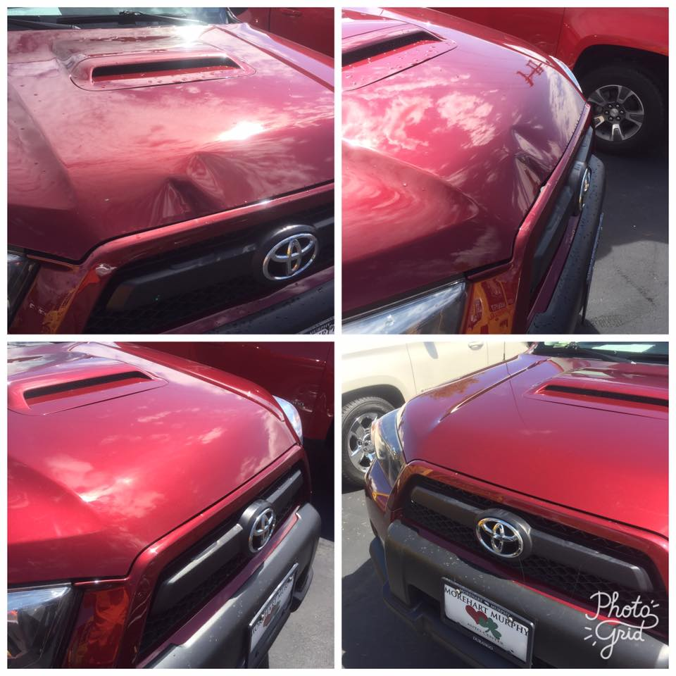 Red SUV Dent Repair